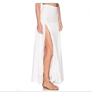Spell & The Gypsy Bambi Split Maxi Skirt Eyelet XS